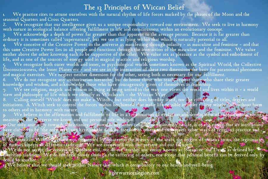 13 wiccan principles. Guide To Wiccan Origins And Beliefs