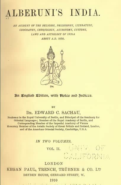Alberuni's India by Dr Eduard Sachau - 1910 - Vol 2