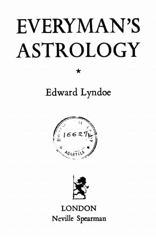 Everyman's Astrology by Lyndoe, Edward - 1919