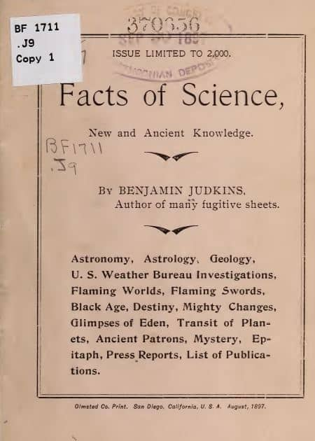 Facts of science, new and ancient knowledge by Benjamin Judkins - 1897