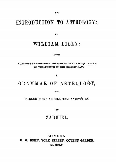 Introduction to Astrology by Zadkiel - 1860