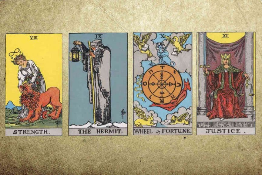 Meaning of Major Arcana (VIII-XI)