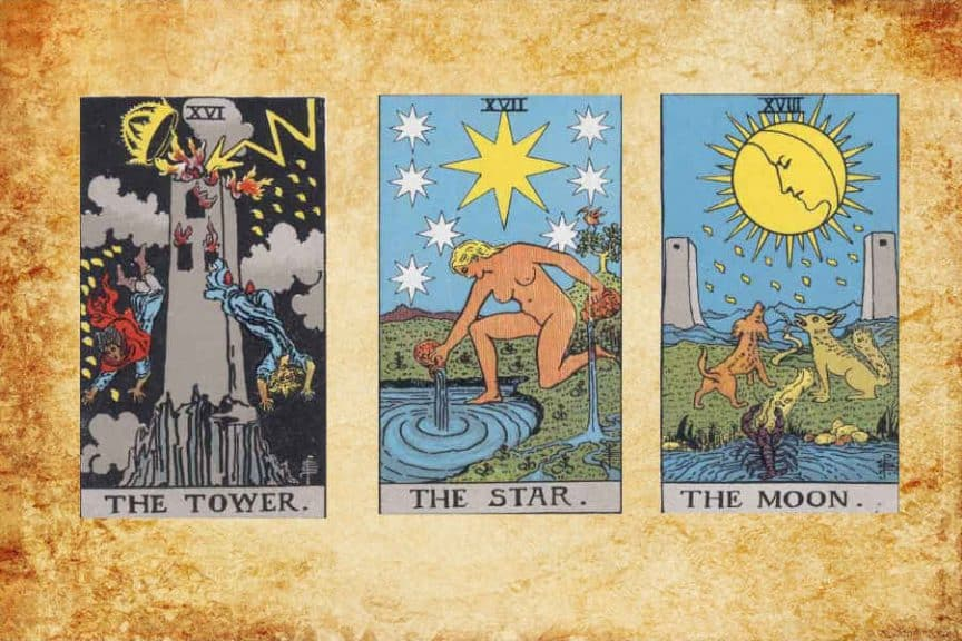 Meaning of Major Arcana (XVI-XVIII)