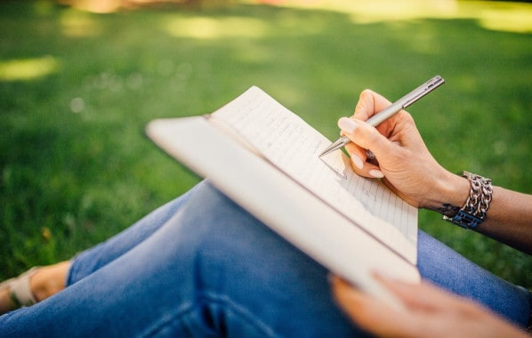 Grounding by emotional writing