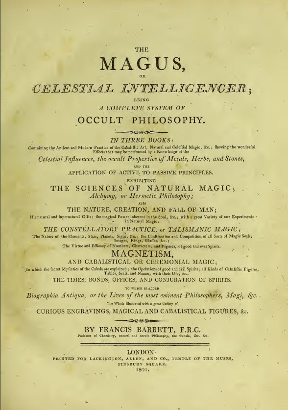 The magus by  Francis Barrett - 1801