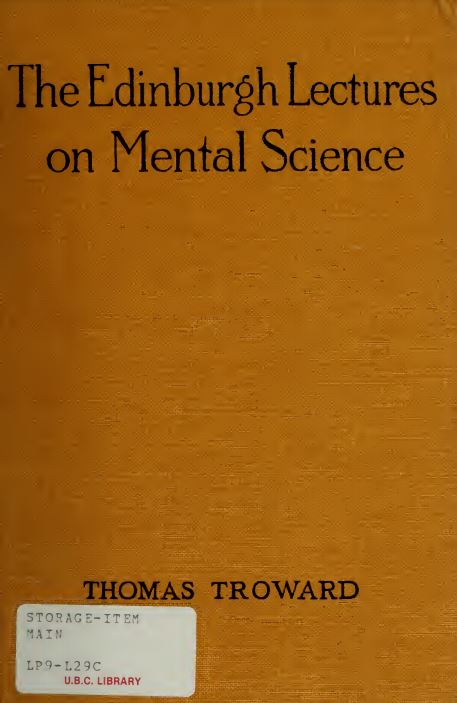 The Edinburgh lectures on mental science by Thomas Troward - 1909
