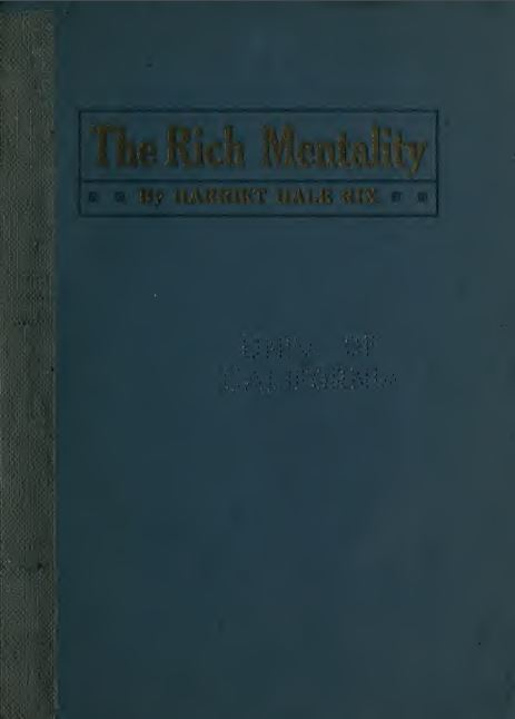 The rich mentality by Harriet Hale Rix - 1916